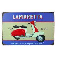 Emaljeskilt Lambretta - NiceWall.dk