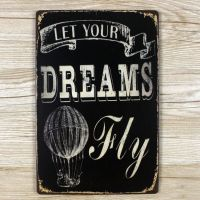 Emaljeskilt Let your Dreams fly - NiceWall.dk