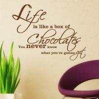 Wallsticker Life is like a Box of Chocolates - NiceWall.dk