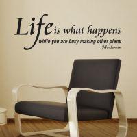 Wallstickers Life is what happens - NiceWall.dk