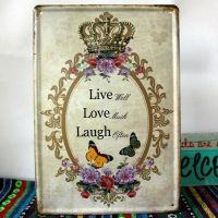 Emaljeskilt Live Love Laugh - NiceWall.dk