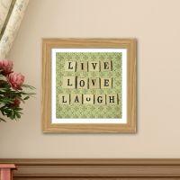 Live Love Laugh - Plakat fra NiceWall.dk