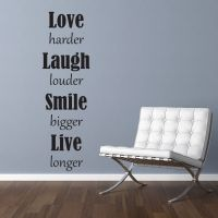 Wallsticker Love Laugh Smile Live - NiceWall.dk