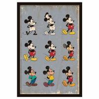 Mickey Mouse gennem tiderne plakat - Mickey Mouse Evolution