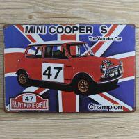 Emaljeskilt Mini Cooper - NiceWall.dk