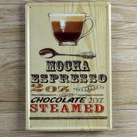 Emaljeskilt Mocha Espresso - NiceWall.dk