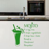 Wallsticker Mojito opskrift - NiceWall.dk