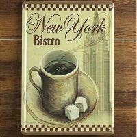 Emaljeskilt New York Bistro - NiceWall.dk