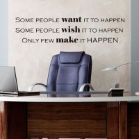 Wallsticker Want - Wish - Make it happen - NiceWall.dk