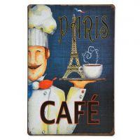 Emaljeskilt Paris Cafe - NiceWall.dk