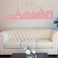 Wallsticker Paris skyline - NiceWall.dk