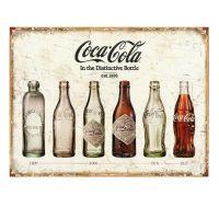 Emaljeskilt Retro Coca Cola - Flot skilt med cola-flasker