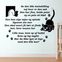 Wallsticker Se den lille kattekilling - NiceWall.dk