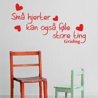 Wallsticker Små hjerter kan også føle... - NiceWall.dk