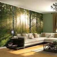 Sommer skov - Foto tapet - Foto stat