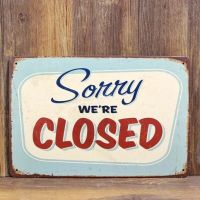 Emaljeskilt Sorry We're Closed - NiceWall.dk