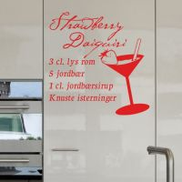 Wallsticker Strawberry Daiquiri opskrift - NiceWall.dk