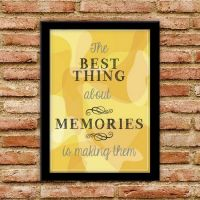 Plakat: The Best Thing about Memories - gul - NiceWall.dk