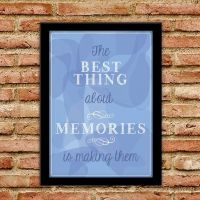 Plakat - Best Thing about memories Blaa - NiceWall.dk