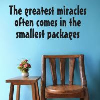 Wallsticker The greatest Miracles - NiceWall.dk