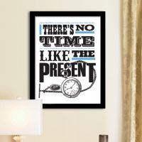 Plakat: No Time like the Present - NiceWall.dk