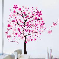 Wallsticker Træ i lyserøde farver - NiceWall.dk