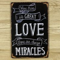 Emaljeskilt Great Love = Miracles - NiceWall.dk