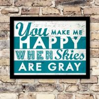 Plakat: You make me Happy - NiceWall.dk