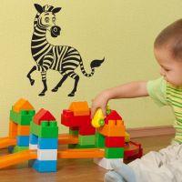 Wallsticker Zebra til Børneværelset - NiceWall.dk