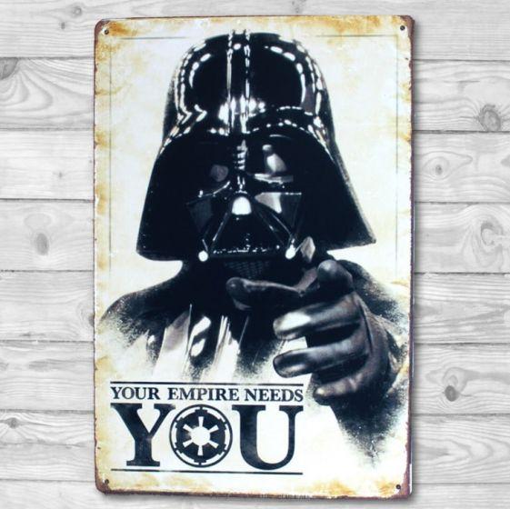Darth Vader - Metal skilt. Flot blikskilt med Star Wars.