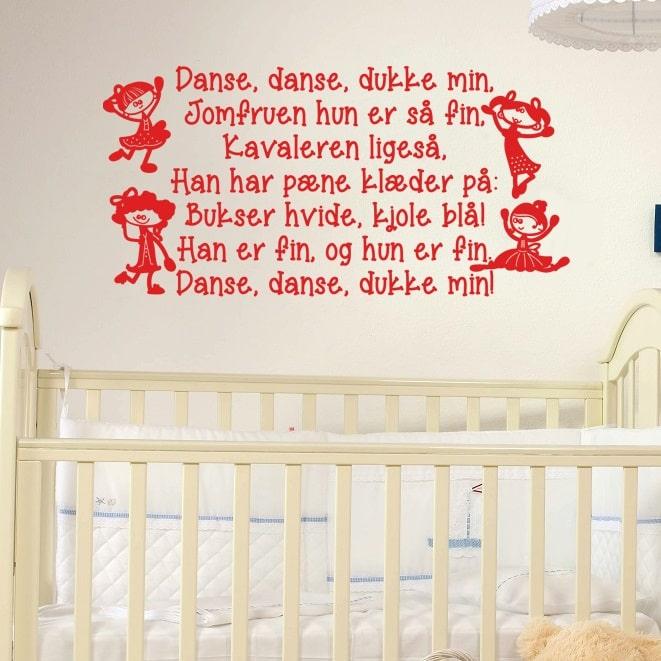 Wallsticker Danse, danse, dukke min
