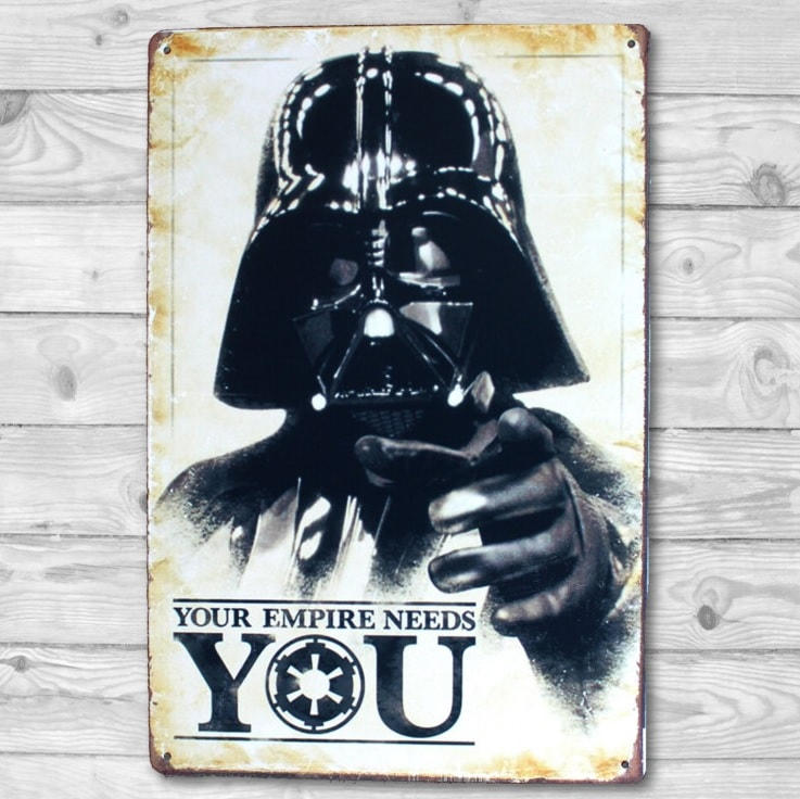 Image of   Emaljeskilt Darth Vader - Star Wars