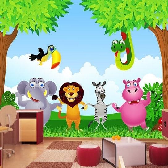 Image of   Fototapet Dyrene fra Zoo