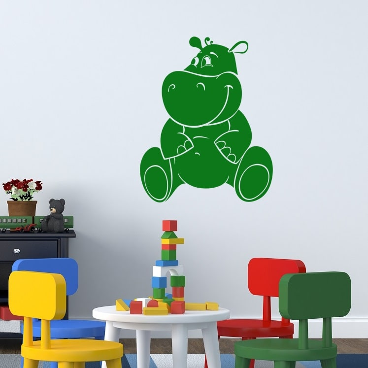 Wallsticker Flodhest