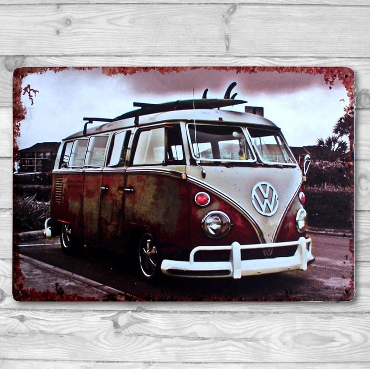 Image of   Emaljeskilt VW Bus