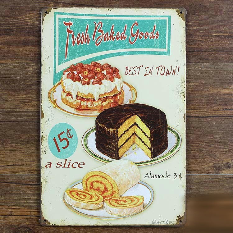 Image of   Emaljeskilt Fresh baked goods
