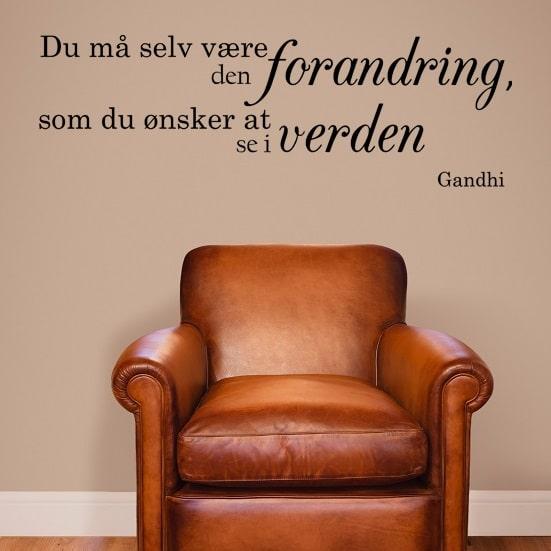 citater om forandring Citat om forandringer   Gandhi   Se flere citater på NiceWall.dk citater om forandring