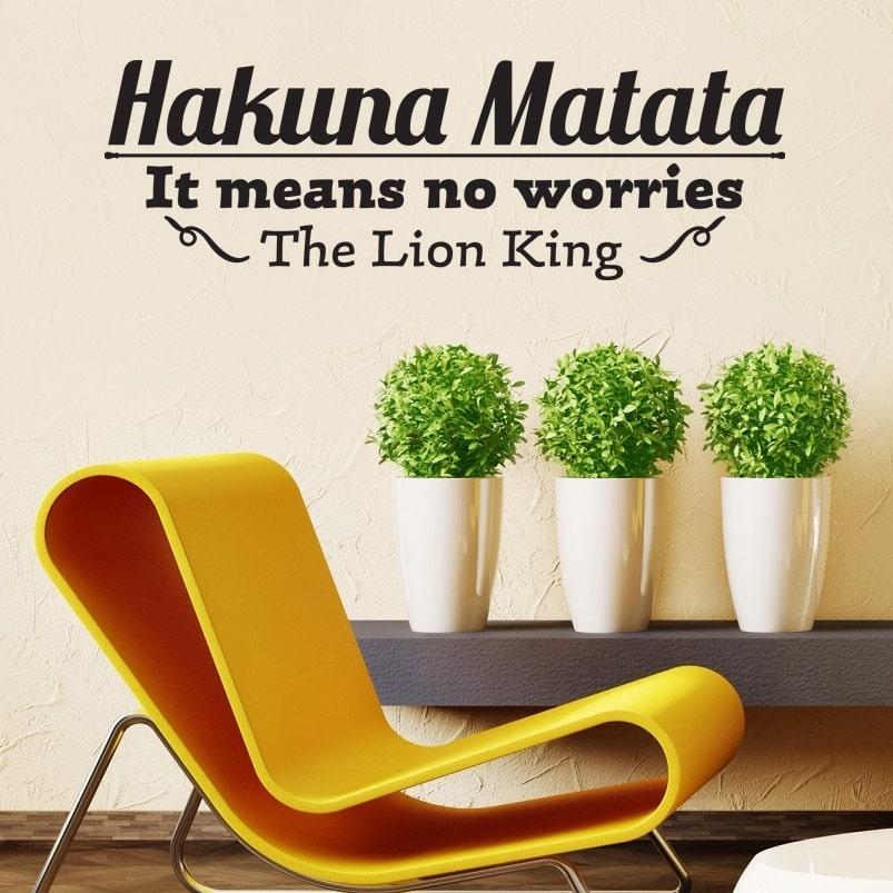 Wallsticker Hakuna Matata