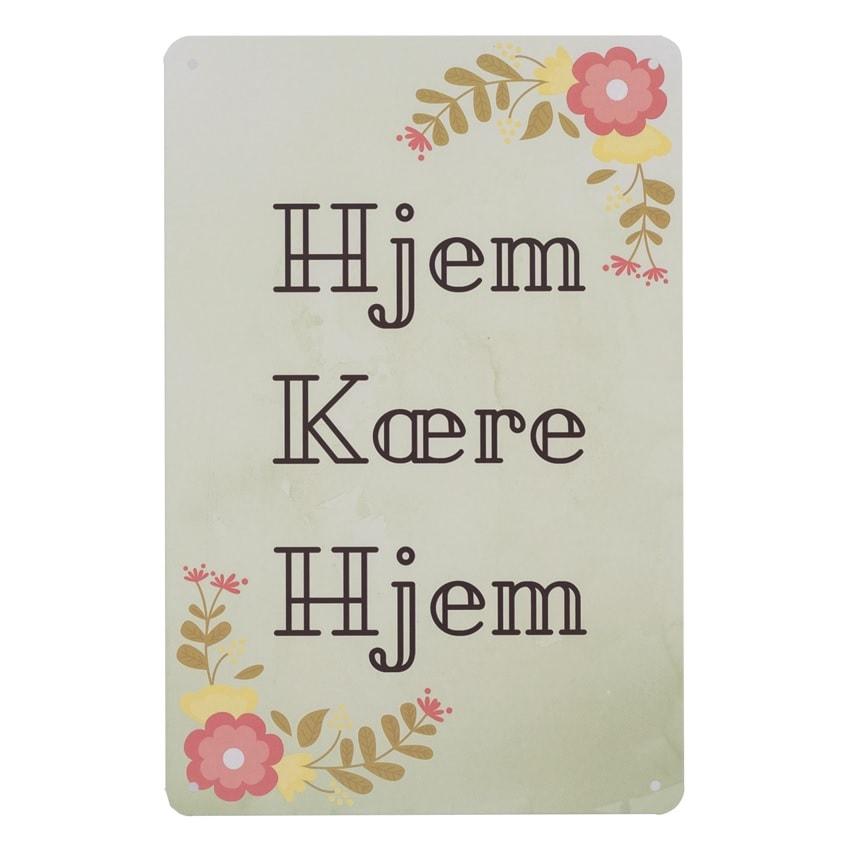Image of   Emaljeskilt Hjem Kære Hjem
