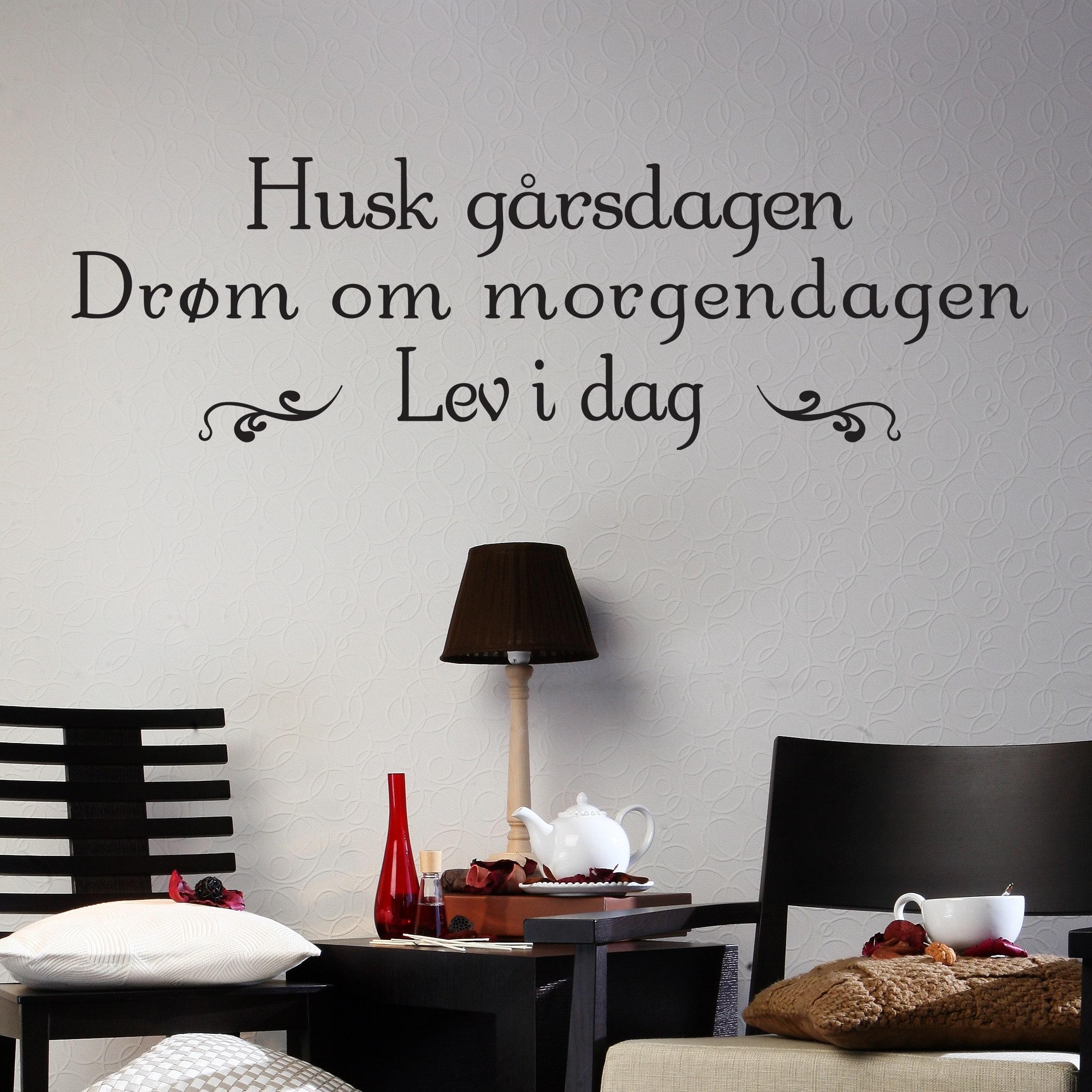 Wallsticker Husk - Drøm - Lev