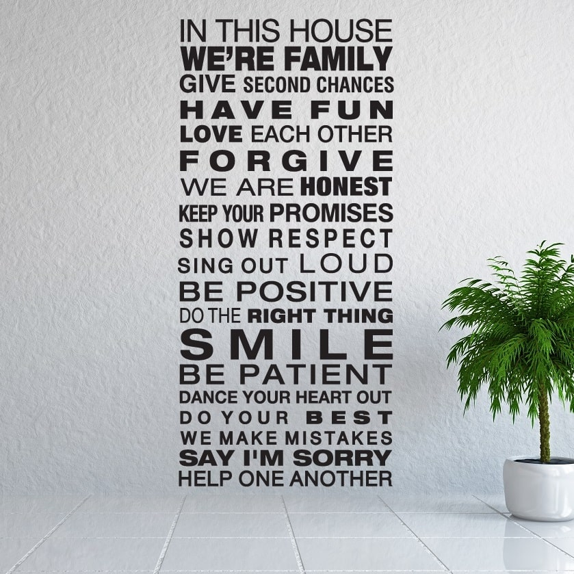 Wallsticker In this house