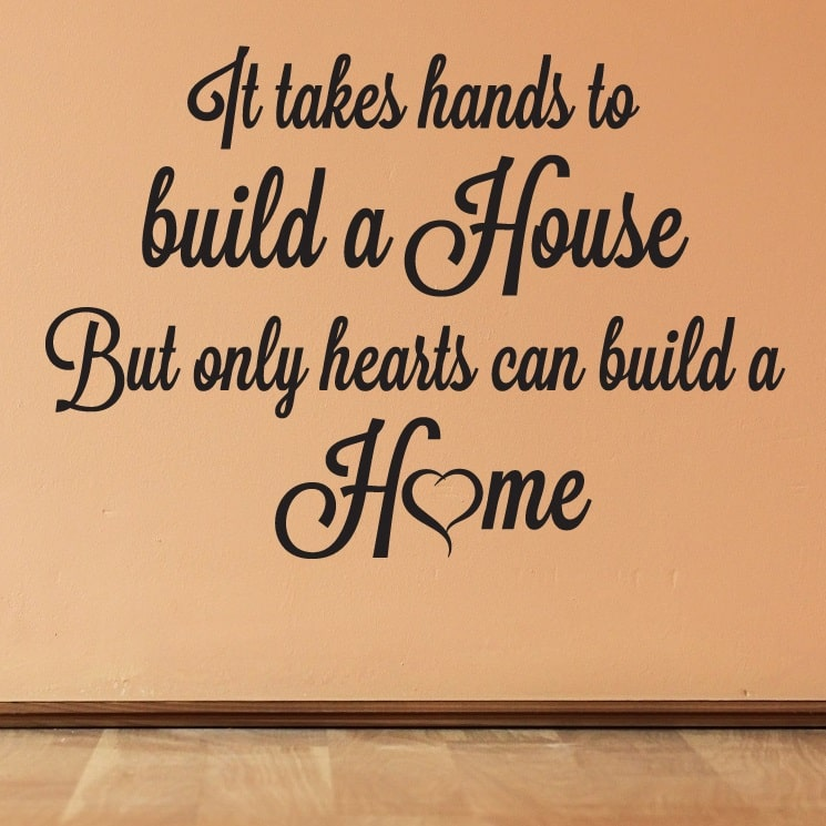 Wallsticker Only Hearts can build a Home