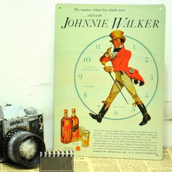 Emaljeskilt Johnnie Walker ur