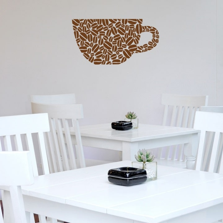 Wallsticker Kaffekop