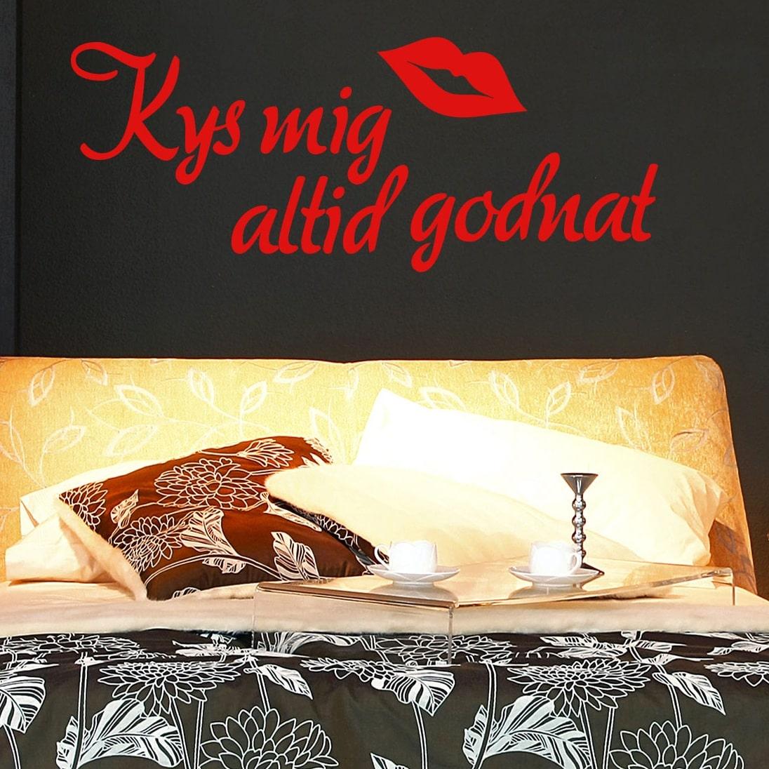 Wallsticker Kys mig altid godnat