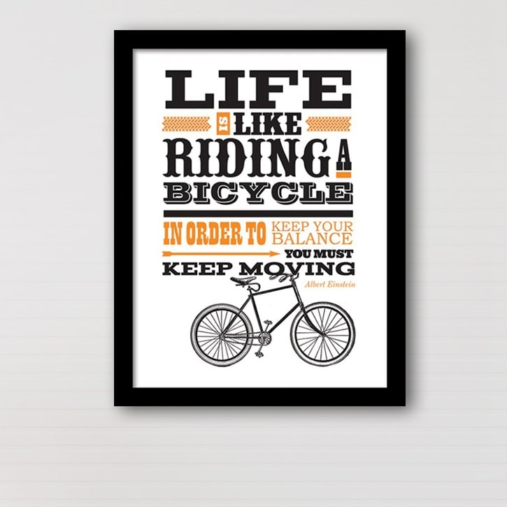 Plakat Life is like Riding a Bicycle thumbnail