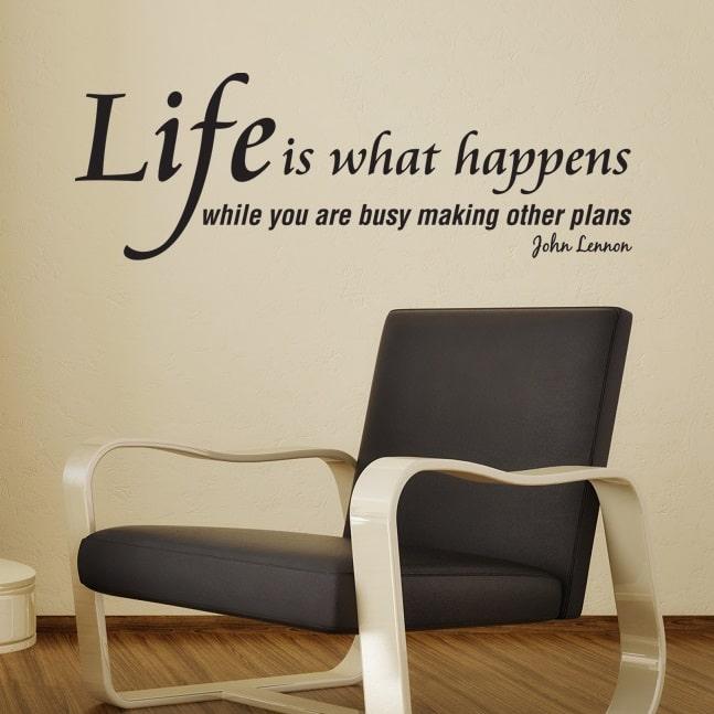 Wallsticker Life is what happens