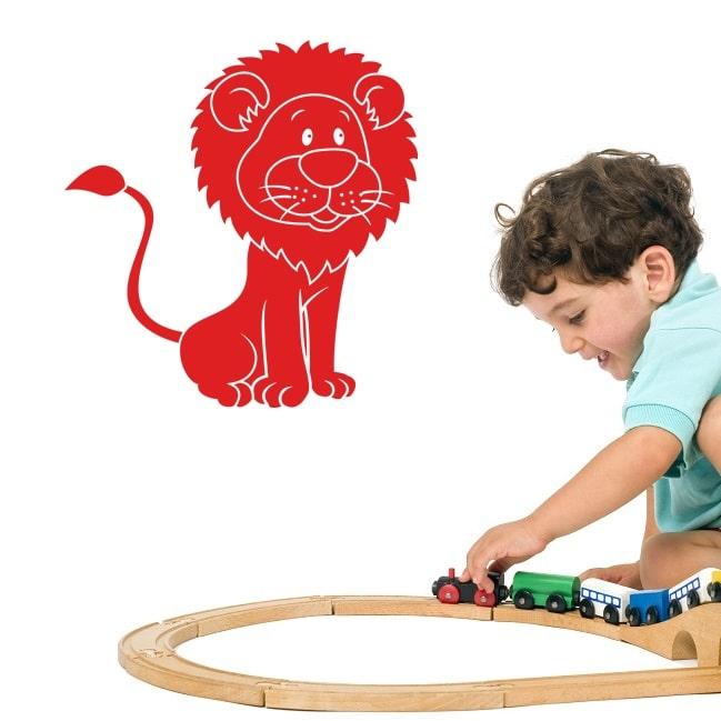 Wallsticker Løve til Børneværelset