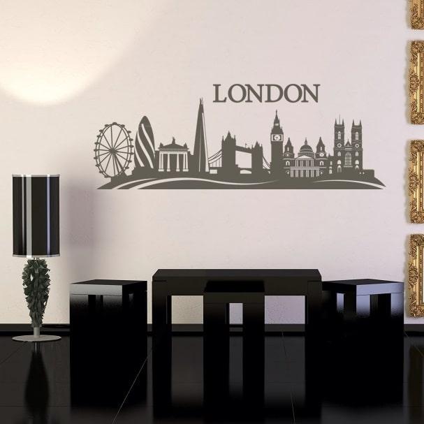 skyline london wallsticker hurtig levering k 248 b online nu home amp kitchen decor wall art wall decor wall
