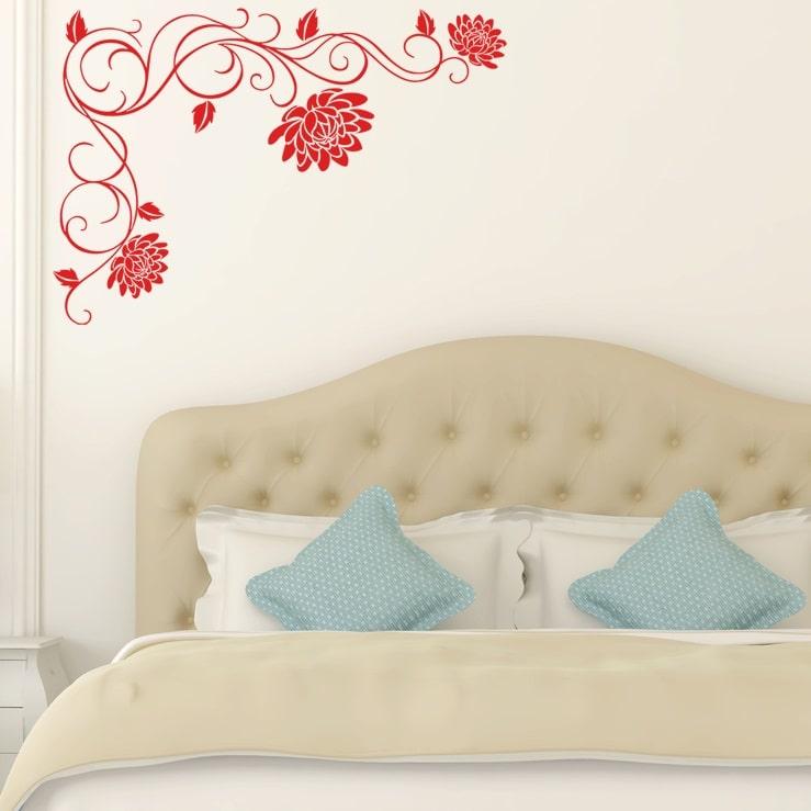Wallsticker Dekoration med Lotus blomster